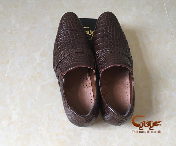 Giày nam da cá sấu xịn, bảo hành 1 năm