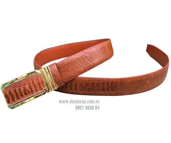 Thắt lưng da đà điểu bản lớn (4 cm)