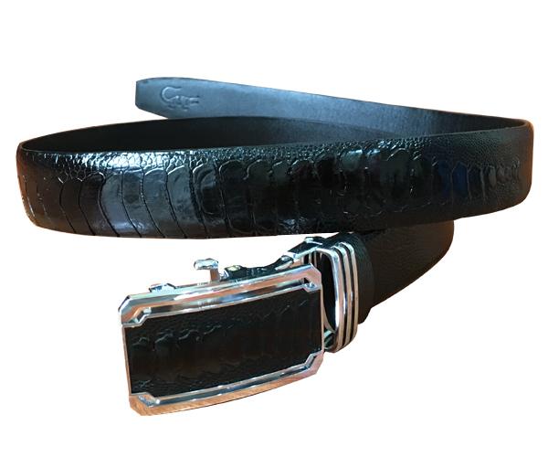 Thắt lưng da đà điểu màu đen