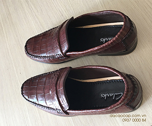 Giày lười da cá sấu xịn