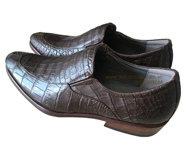 Giày da cá sấu không buộc dây