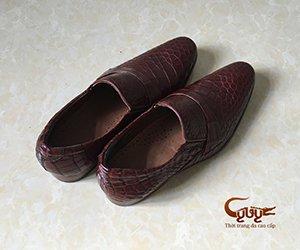 Giày da cá sấu nam cao cấp, bảo hành 1 năm