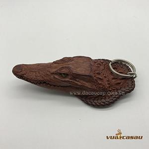 Móc khóa đầu cá sấu đan viền cao cấp