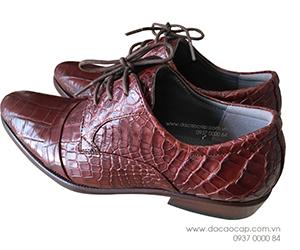 Giày da cá sấu kiểu buộc dây