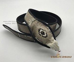 Thắt lưng da rắn hổ chúa thật 100%