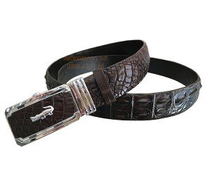 Thắt lưng da cá sấu nâu đen